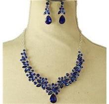 More Petals Necklace Set - Royal Blue