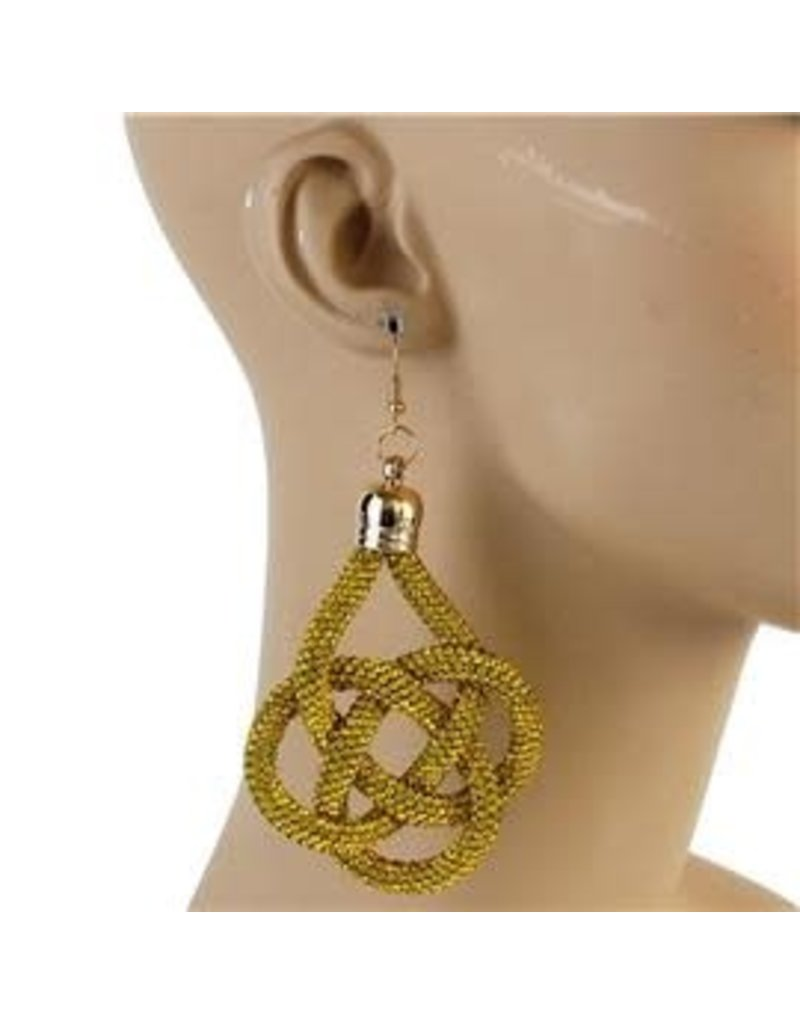 Not My Word Earrings - Yellow