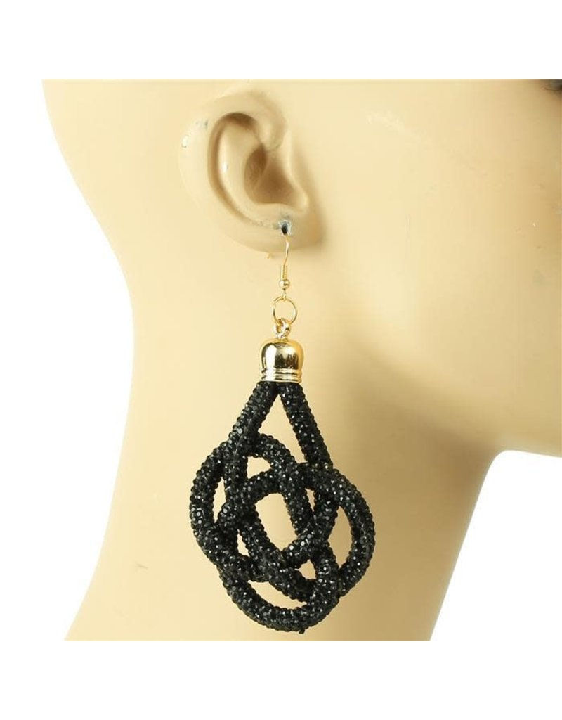 Not My Word Earrings - Black