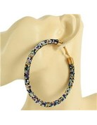 Show Off Rhinestone Hoops 80mm - Multi