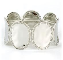 Flipped Out Stretch Bracelet - Silver