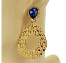Hammer Time Clip-On Earrings - Royal Blue