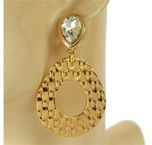 Hammer Time Clip-On Earrings - Gold/Clear