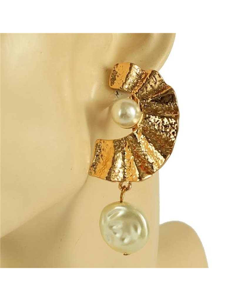 Surround Me Clip-On Earrings - Gold