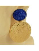 Beat It Clip-On Earrings - Royal Blue