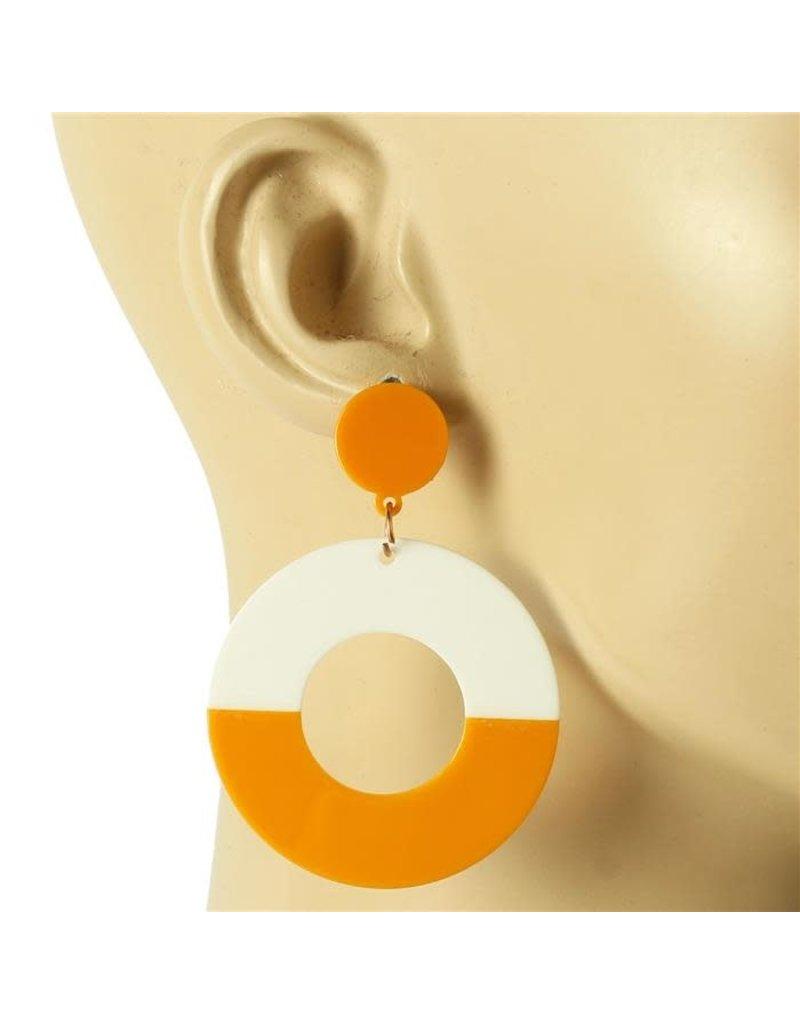 Dangle Around Earrings - Mustard