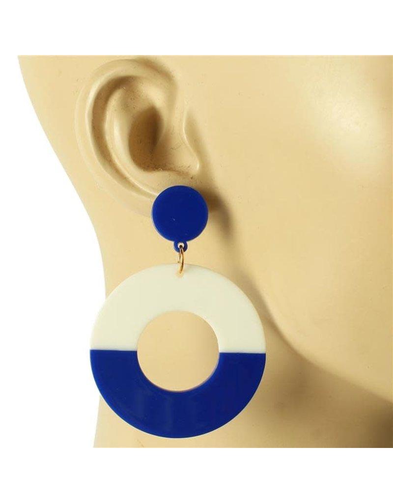 Dangle Around Earrings - Royal Blue