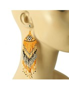 Siesta Fiesta Beaded Earrings -Orange