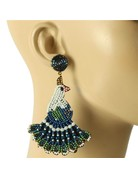 Peacock Sings Beaded Earrings