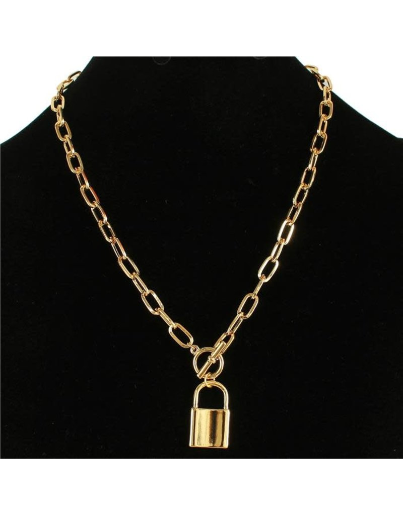 Lock Up Necklace - Gold