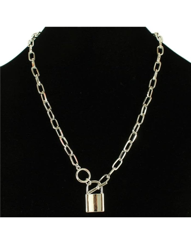 Lock Up Necklace - Silver