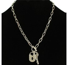 Lock N Key Necklace - Silver