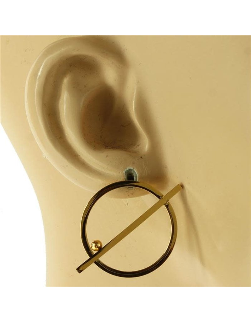 Straight Across Earrings- Gold