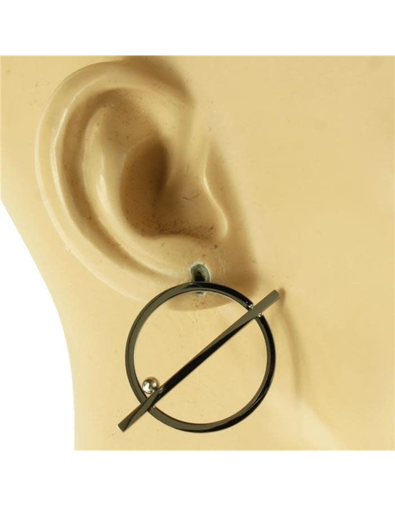 Straight Across Earrings- Silver