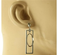 Boxed Ball Earrings - Silver