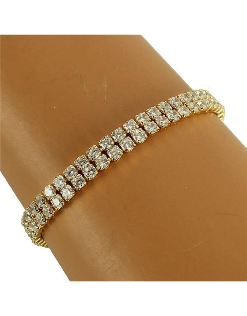 Sparkles On Tennis Bracelet - Gold