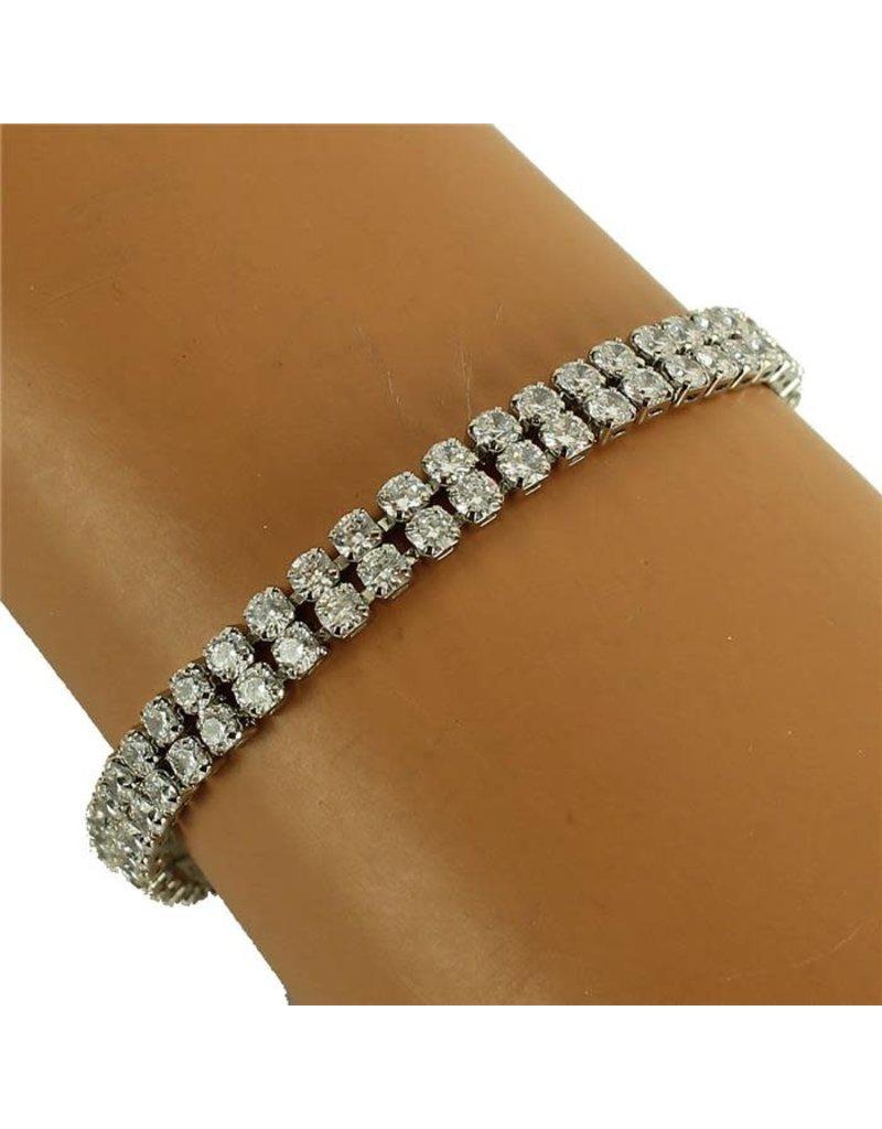 Sparkles On Tennis Bracelet - Silver