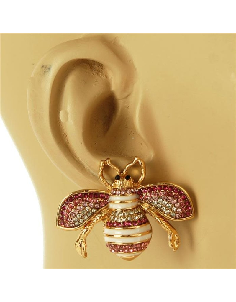 Sting Is On Earring - Pink