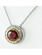 Class Act Cubic Zirconia Necklace - Red