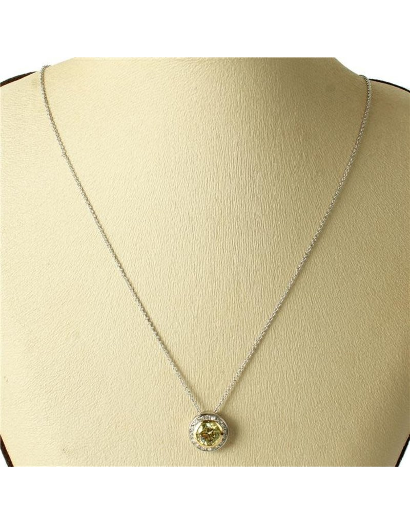 Class Act Cubic Zirconia Necklace -  Yellow