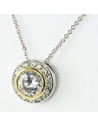 Class Act Cubic Zirconia Necklace -  Clear