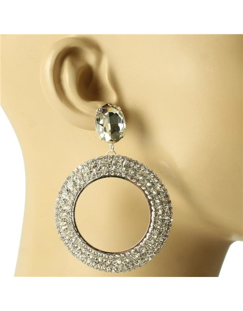 Spinning Jewels Earrings - Silver