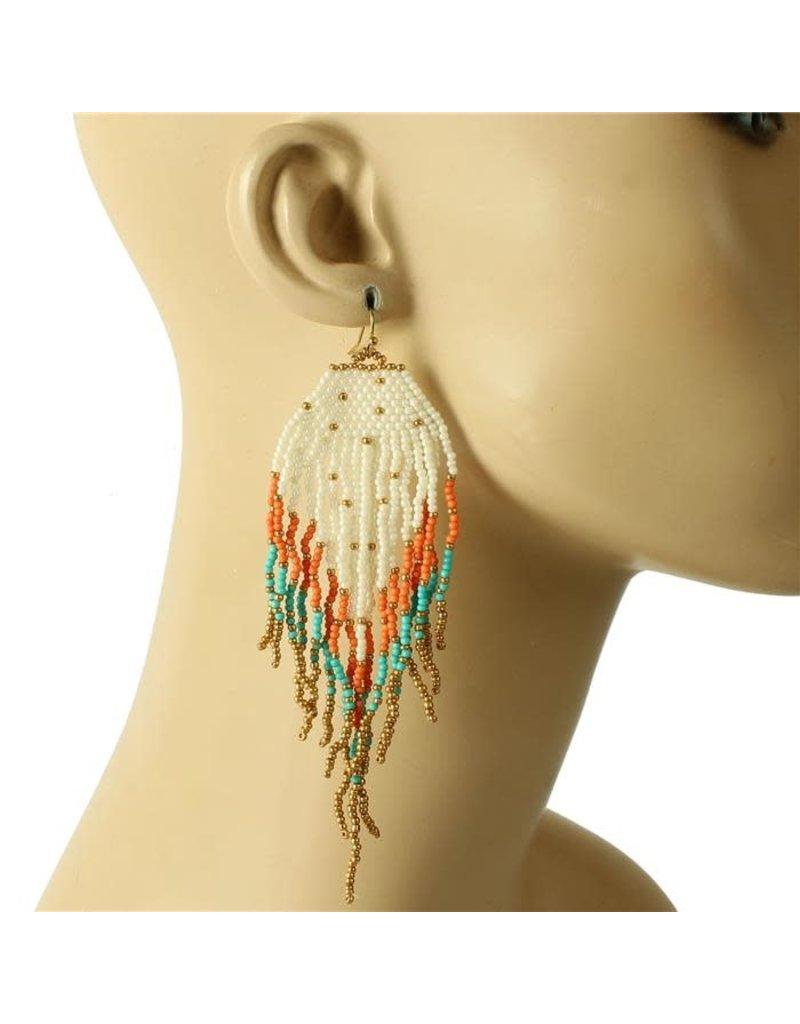 Siesta Fiesta Beaded Earrings - Multi