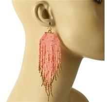 Siesta Fiesta Beaded Earrings - Pink