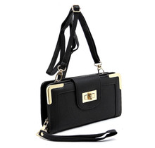 Tea Time Clutch Wallet - Black