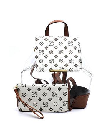 Wonder Why Backpack Set - Ivory/Tan