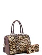 Until the Time Handbag Set - Leopard/Brown