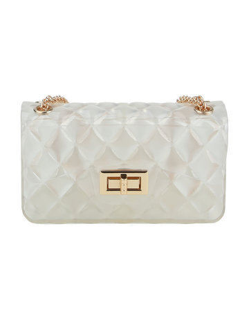 Quilted Beauty Jelly Bag - Clear