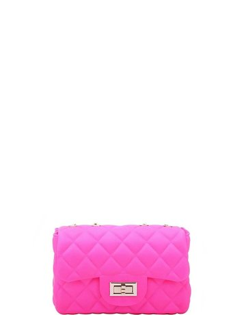 Now or Never Jelly Bag - Neon Pink