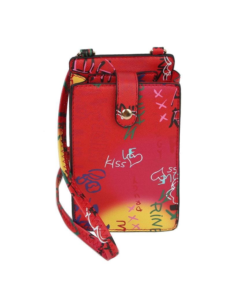 Gadget Ready  Cross Body Bag - Red