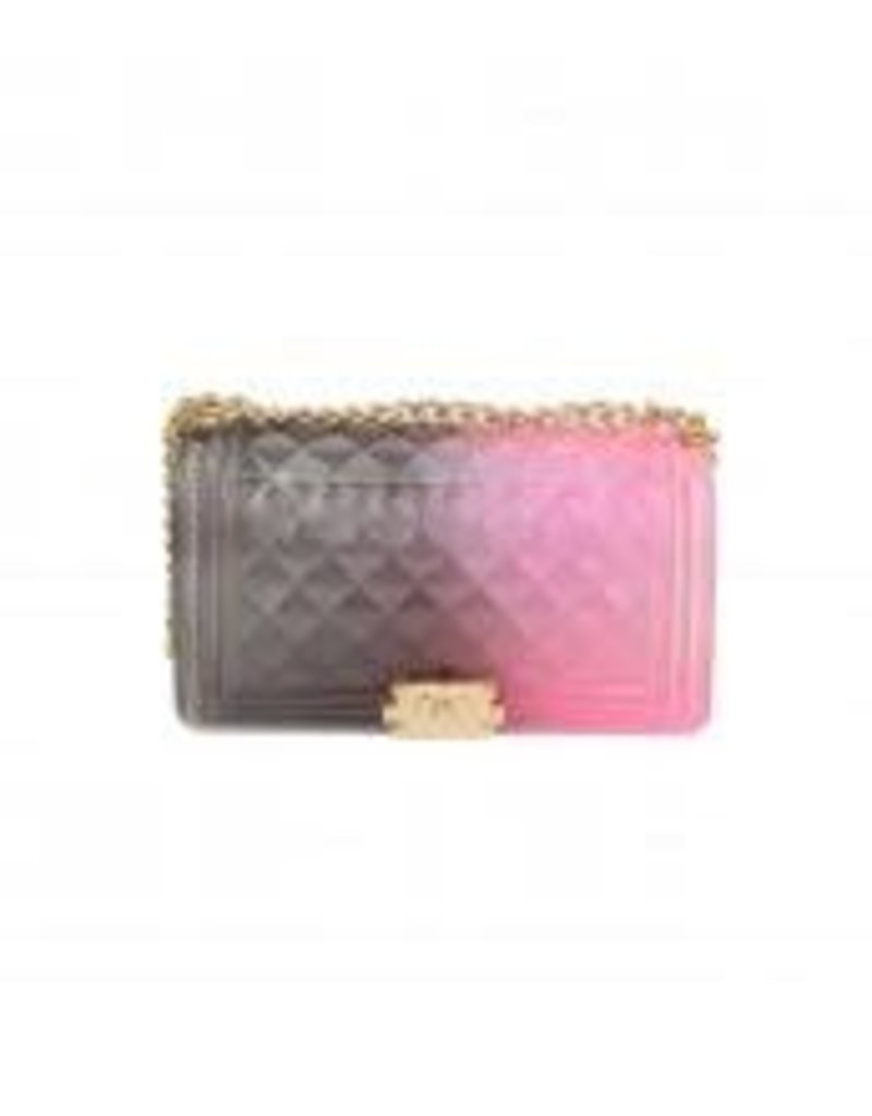 Beauty Shines Jelly Bag - Grey/Pink