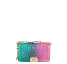 Beauty Shines Jelly Bag - Aqua/Pink