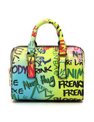 Graffiti Talk Handbag - Yellow