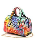 Graffiti Talk Handbag - Blue