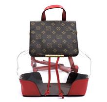 Wonder Why Backpack Set - Brown/Red