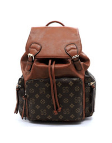 In the Know Backpack - Brown/Tan
