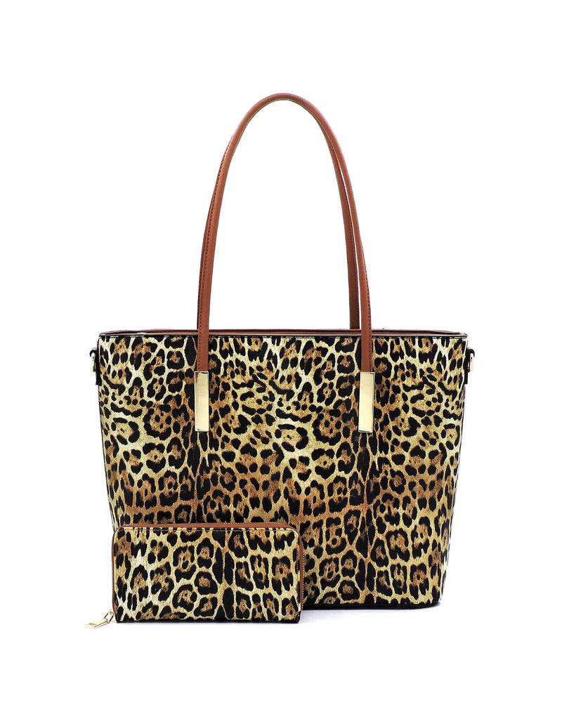 Sway Away Handbag Set - Leopard/Brown