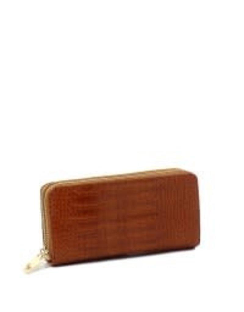 Textured Feel Wallet - Brown