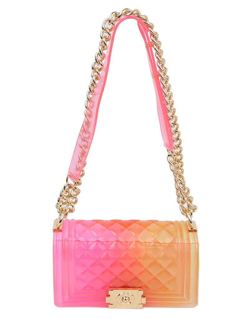 Beauty Shines Jelly Bag - Pink/Orange