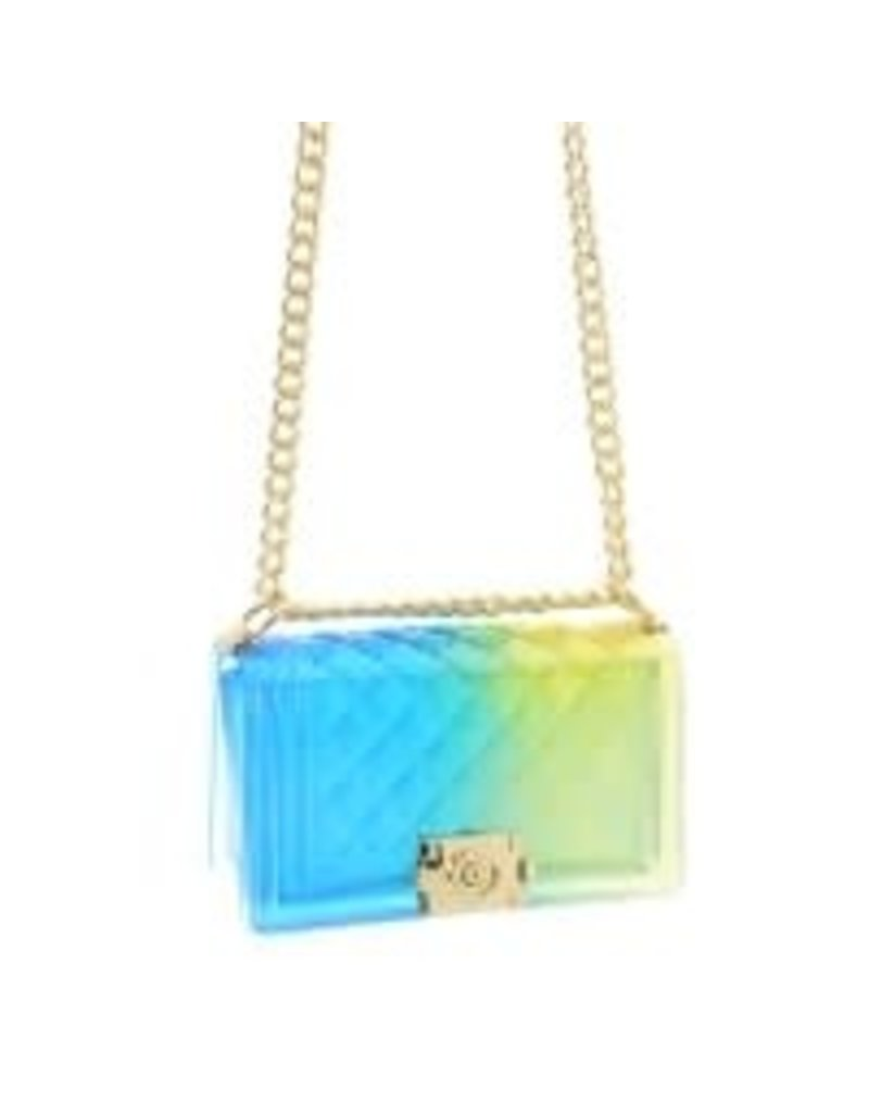 Beauty Shines Jelly Bag - Blue/Yellow