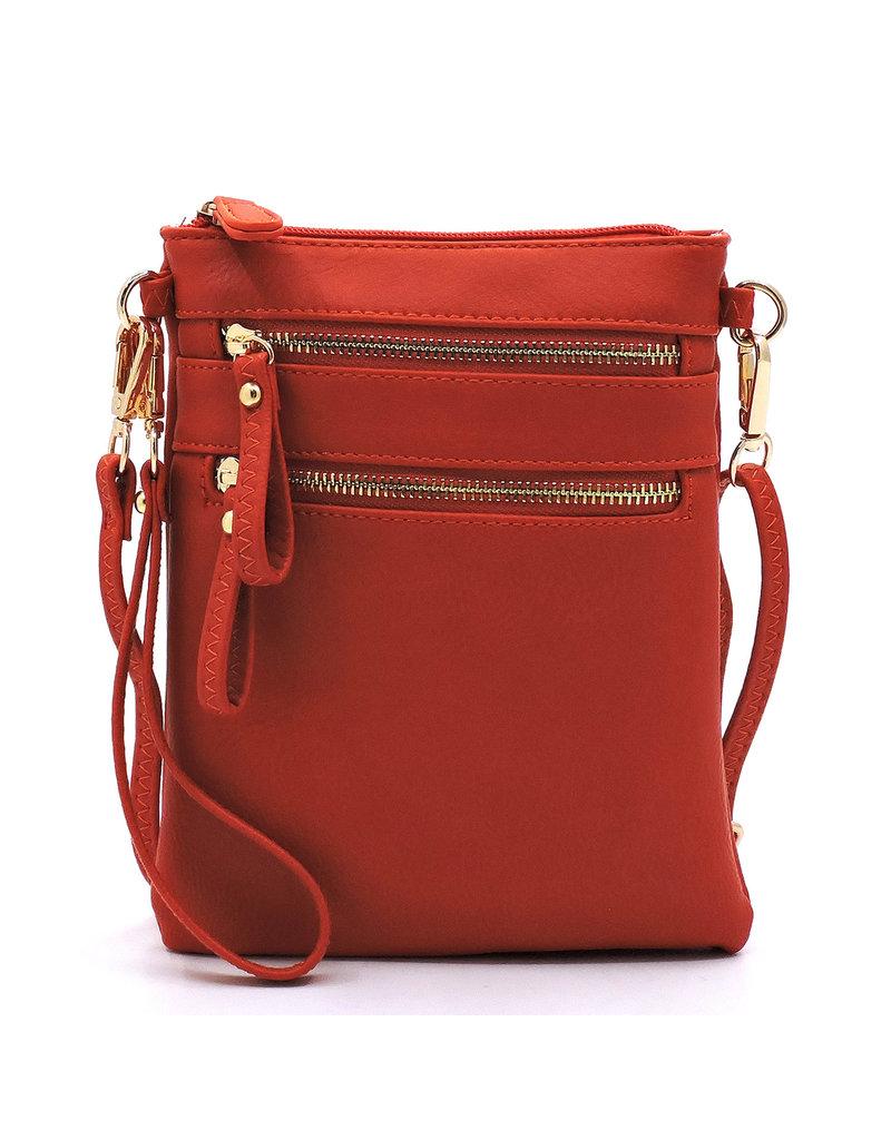 Leaving Now Cross Body Bag - Red