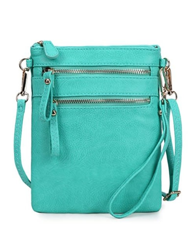 Leaving Now Cross Body Bag - Turquoise