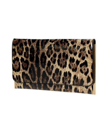Sleek & Shine Clutch - Leopard