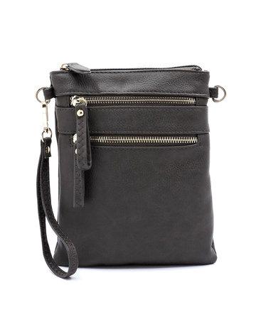 Leaving Now Cross Body Bag -Charcoal Grey