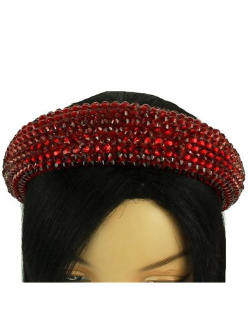 Hi Tide Crystal Headband - Red