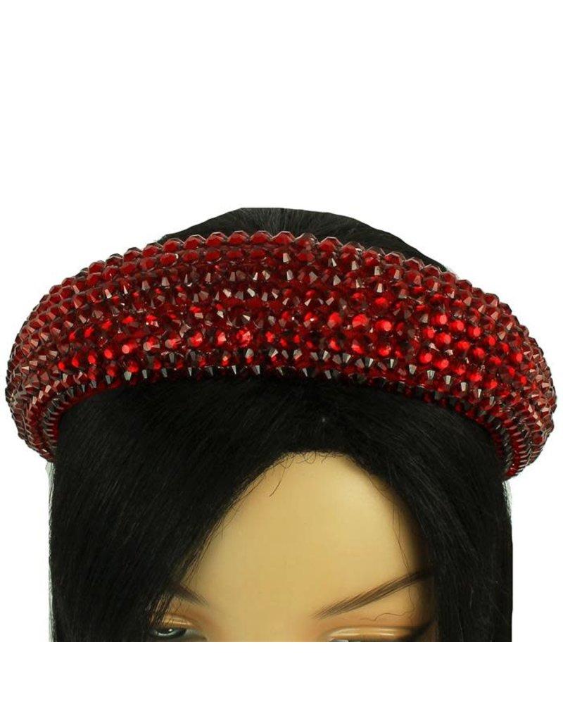 Hi Tide Crystal Headband - Red